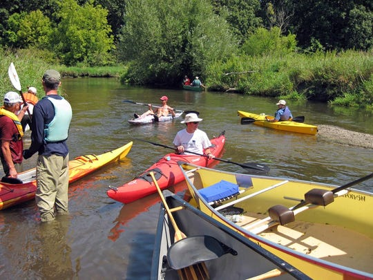 Badfish Creek, south of Madison, is fast, winding and not for beginner paddlers.