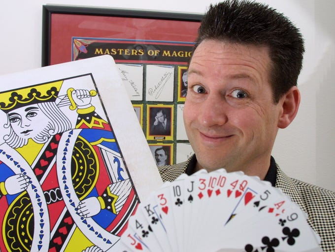 Magician and comedian Ben Ulin, shown in 2002, started