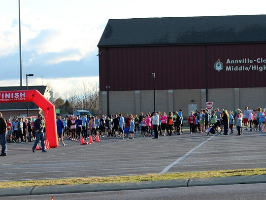 Participants gather at Annville-Cleona High School at a previous Bunny Run/Walk. The date for the 2016 event is Saturday, March 26, with the race starting at 9 a.m.