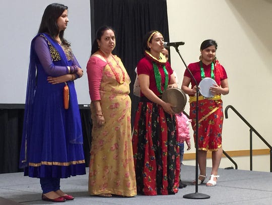 Groups representing several countries performed at