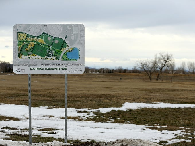 A sign advertises the yet-to-be-constructed Southeast