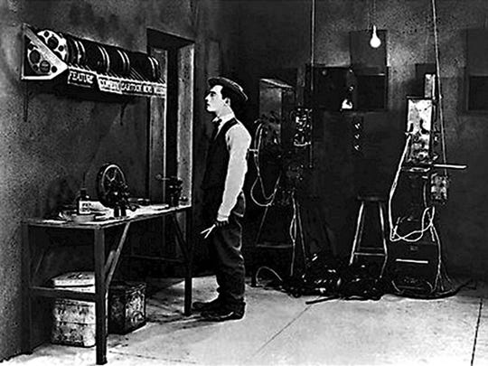 """Buster Keaton is a projectionist on a quest for love, mystery and cinematic fantasy in 1924's """"Sherlock Jr."""""""