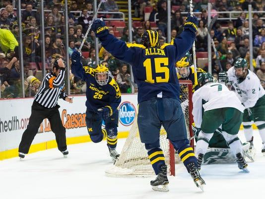 michigan hockey, michigan state hockey
