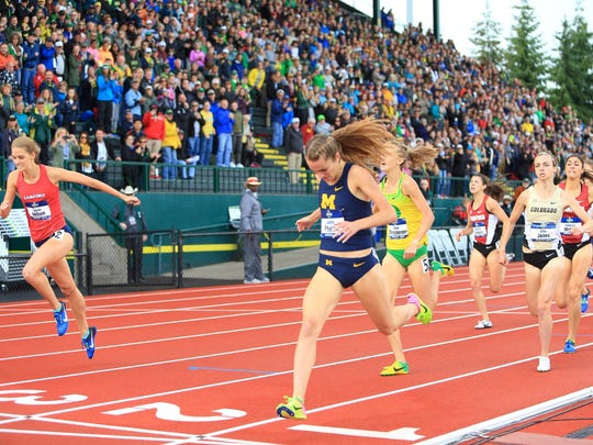 Michigan's Jaimie Phelan wins the NCAA women's 1,500m