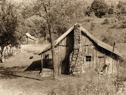 Hermit's House, a sepia-tone silver-gelatin print by