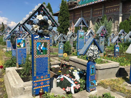 "This irreverent ""Merry Cemetery"" in the north of Romania"