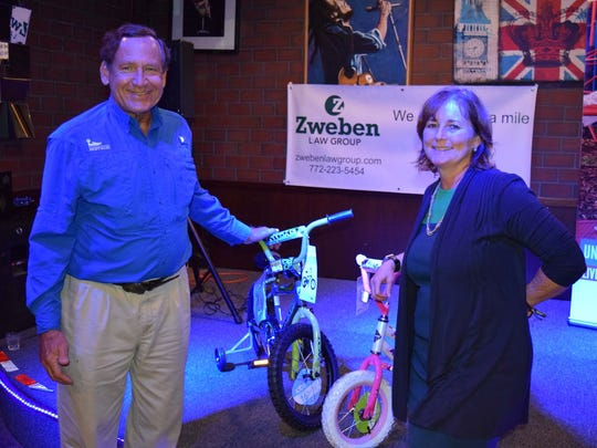 Tom and Sue Whittington attend the Zweben Law Group Bike Drive Kickoff Party at The Stillery on Nov. 16.