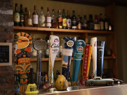 Beers on tap at Silver Spoon Cafe on Main Street in