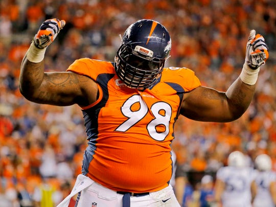 Terrance Knighton could be the big-bodied defensive tackle the Colts will need to stop the run in the playoffs.