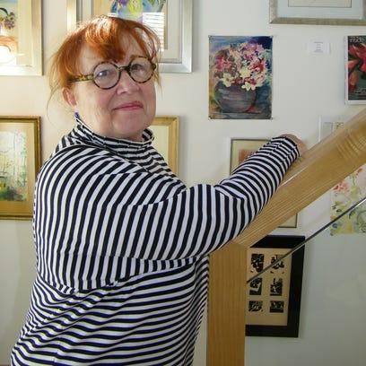 Artist Rona Rothschild in her home art studio on Catawba,