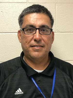 New Lake View football assistant and  head softball coach Jesse Casarez
