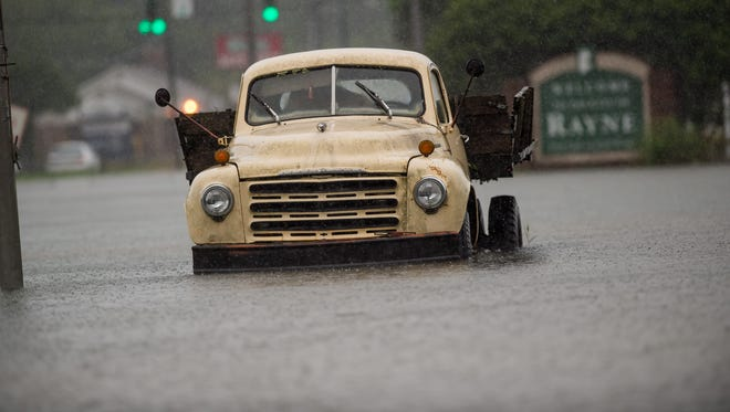 Record rainfall causes flooding across south Louisiana.