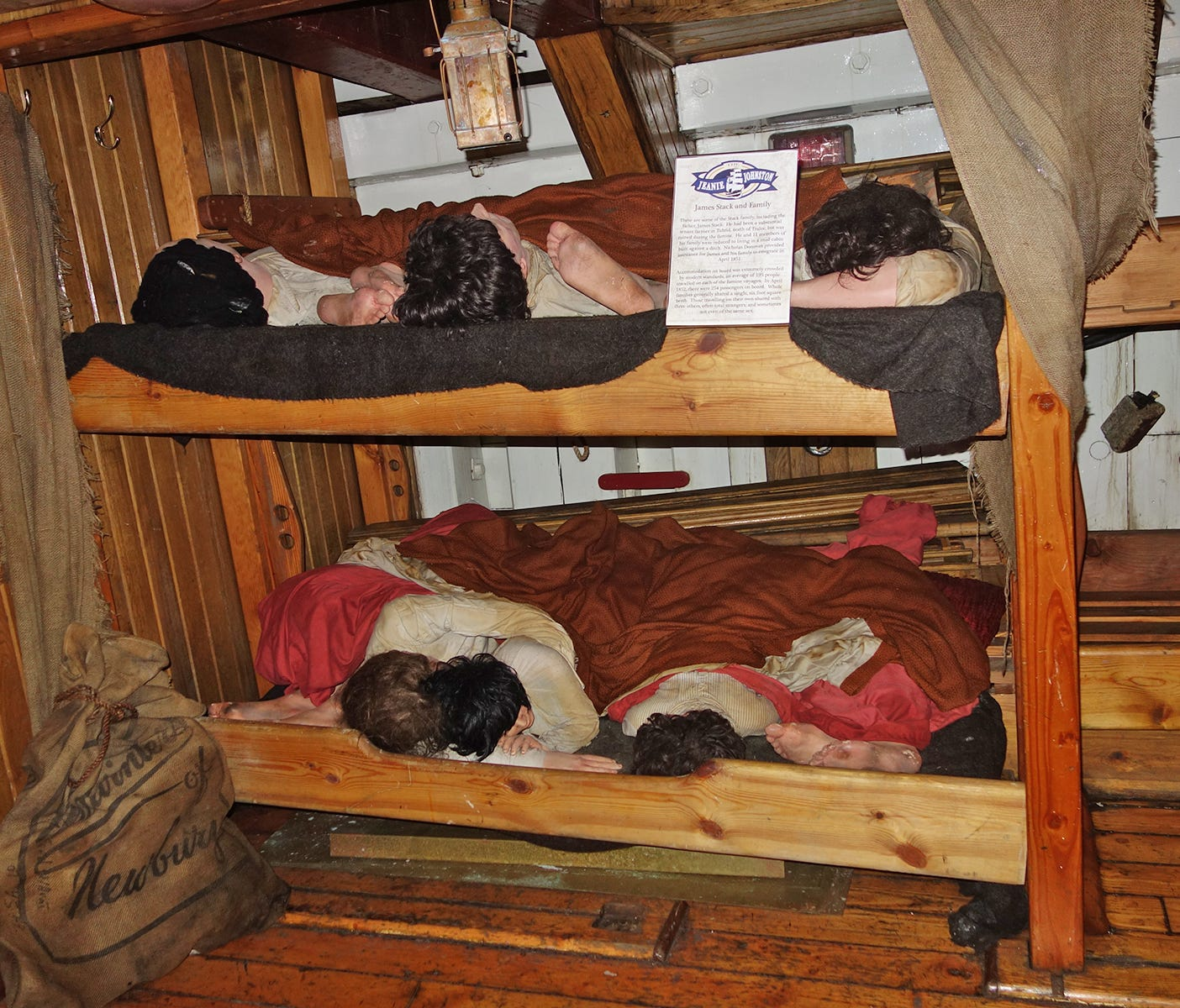 In Dublin, the Jeanie Johnston Tall Ship recreates the harsh conditions on a famine ship, where entire families often shared one 6-foot-square berth.