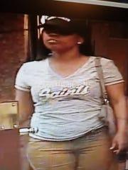 An alleged shoplifter was caught on surveillance video