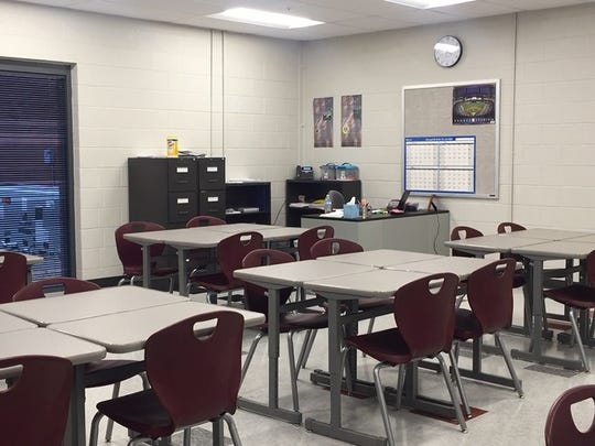 A classroom at Franklin High School.