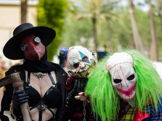 It may be a horror con, but that doesn't mean there's any less cosplay