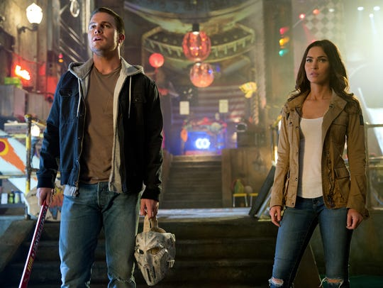 Stephen Amell stars as Casey Jones and Megan Fox is