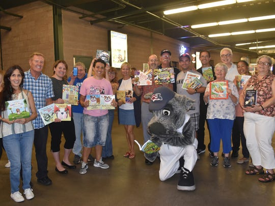 Thirteen New Jersey-based writers participated in an Aug. 15 Author Festival at the Somerset Patriots' TD Bank Ballpark in Bridgewater. The event was part of the 29th annual Super Summer Reader Club, sponspored by the Courier News, Home News Tribune and MyCentralJersey.com. It also raised $600 for the Somerset Patriots Children Foundation.