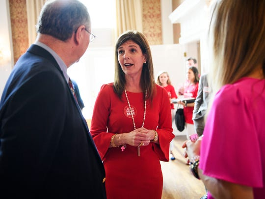 Pamela Evette during a Greenville County Republican Women's Club event at the Poinsett Club on Thursday, May 17, 2018.