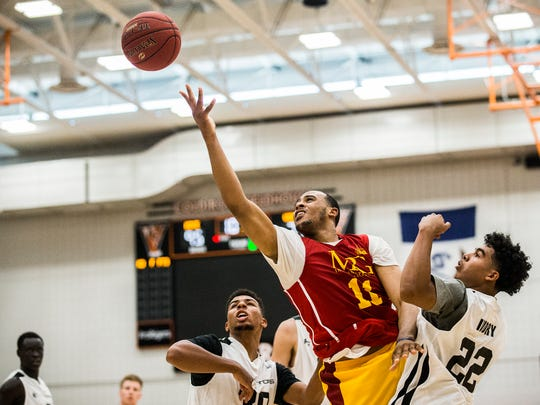Iowa State's Talen Horton-Tucker shoots the ball during opening night of the YMCA Capital City Men's Basketball League 2018 season on Sunday, June 17, 2018, at West Des Moines Valley High School.