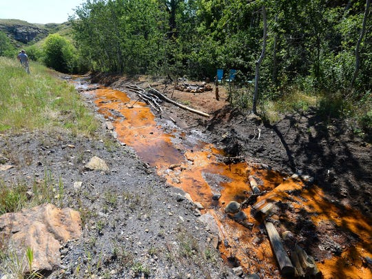 Acid mine drainage from abandoned coal mines pollutes