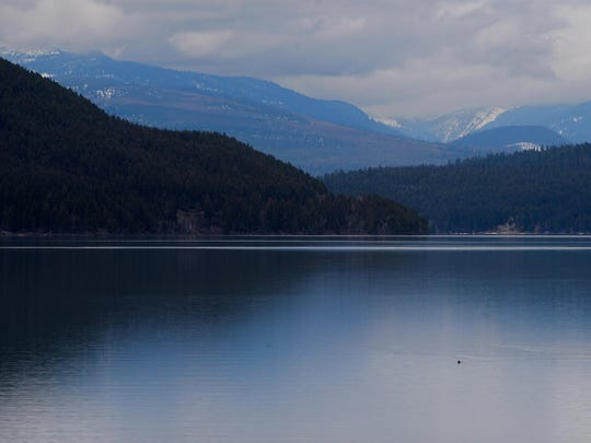 Whitefish Lake lies at the foot of Big Mountain in