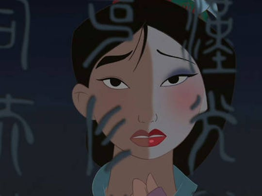 "A scene from the animated film ""Mulan."""