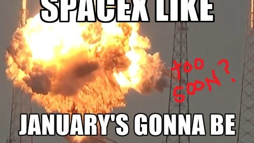 SpaceX plans to return to flight January after an explosion that occurred in September setting it back.