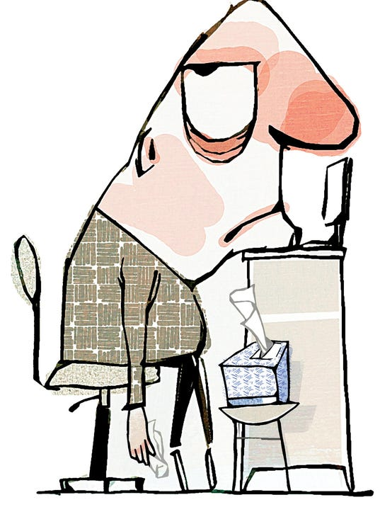 ILLUSTRATION: Sick at work
