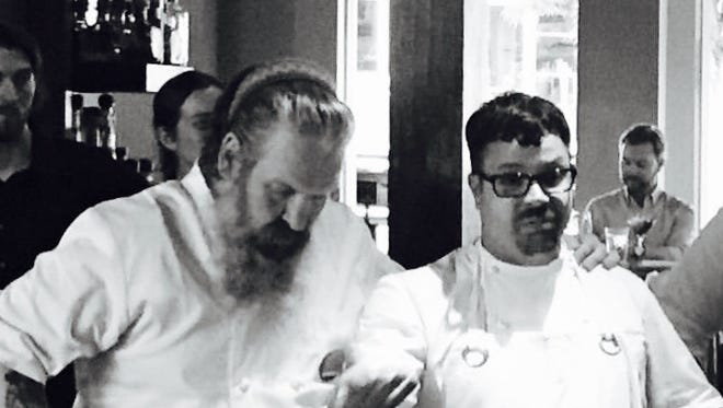 Chefs Jack Tapp and Anthony Lamas at Seviche