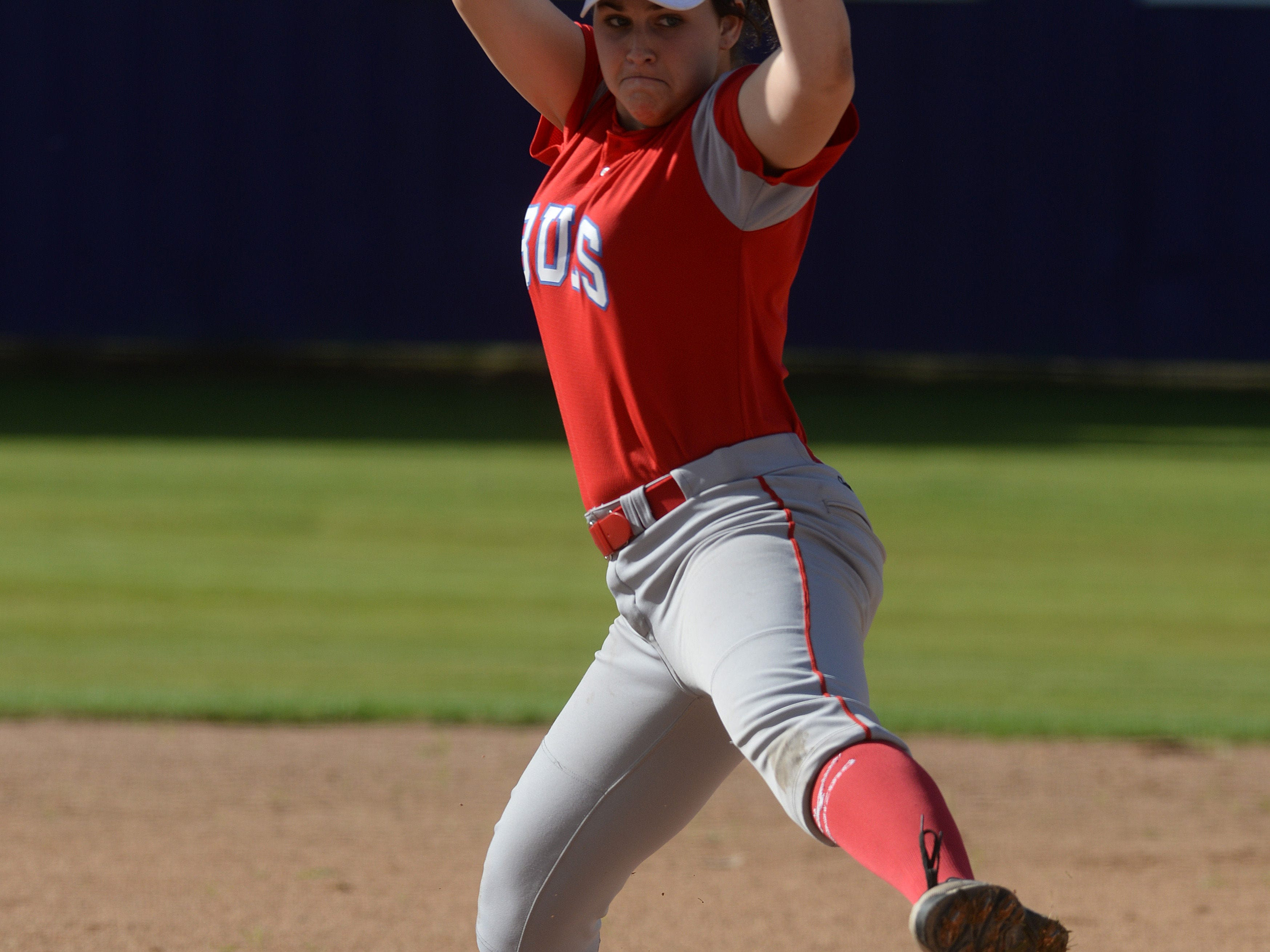 Haughton's Ashley Smith takes the mound against C.E. Byrd in their final District 1-5A softball game of the season.