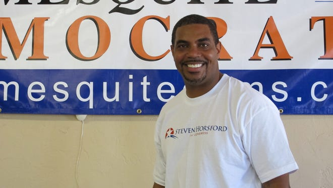 Former Sen. Steven Horsford, D-Nev., was a guest at the Mesquite Democrats Campaign Headquarters opening in 2012.