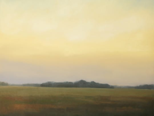 "Megan Lightell, ""Cornelia Fort Evening,"" oil on canvas over panel, 48x48x2.5."
