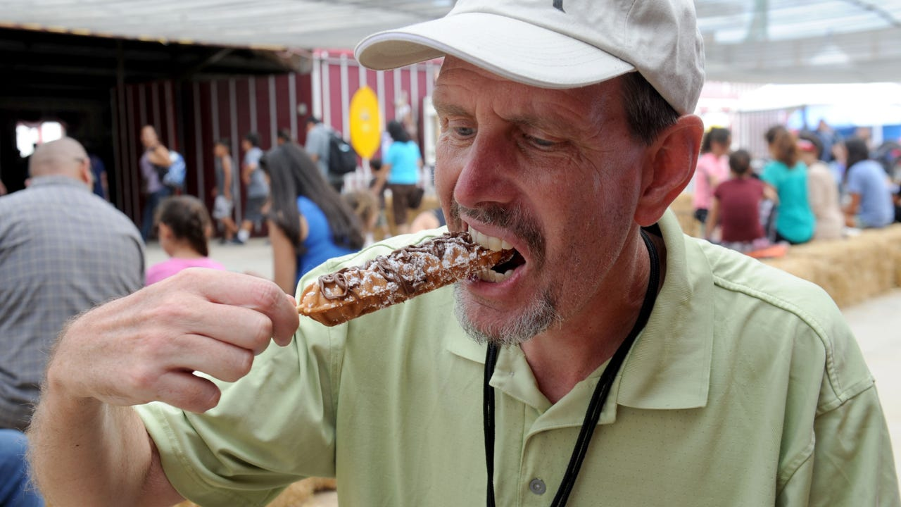 Reporter eats healthy at fair. Sort of.