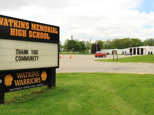 Watkins Memorial High School posted this message thanking the community after voters on Tuesday approved Southwest Licking Local Schools' bond issue, which will allow the district to build a new high school and intermediate school.