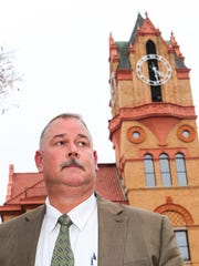 David Wagner, the incoming 10th Judicial Circuit solicitor, stands outside the historic Anderson County Courthouse.