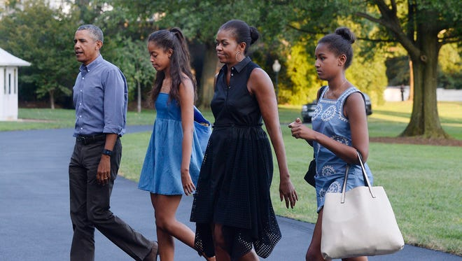 President Obama and his family return to the White House on Sunday night.