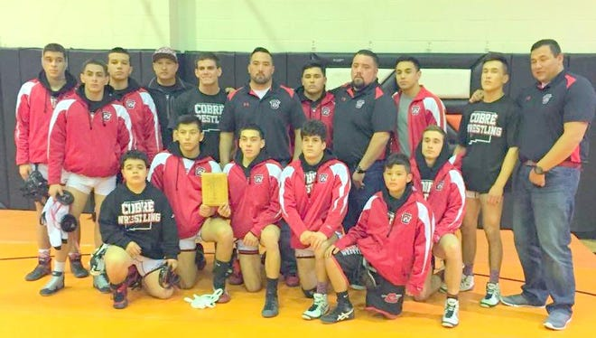 The Cobre High wrestling team finished runner-ups in the Aztec Duals.
