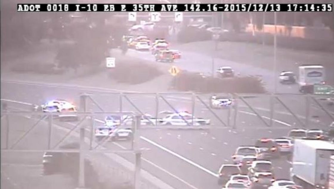 Phoenix pd 2 armed robbery suspects flee across i 10 for Today s interiors phoenix