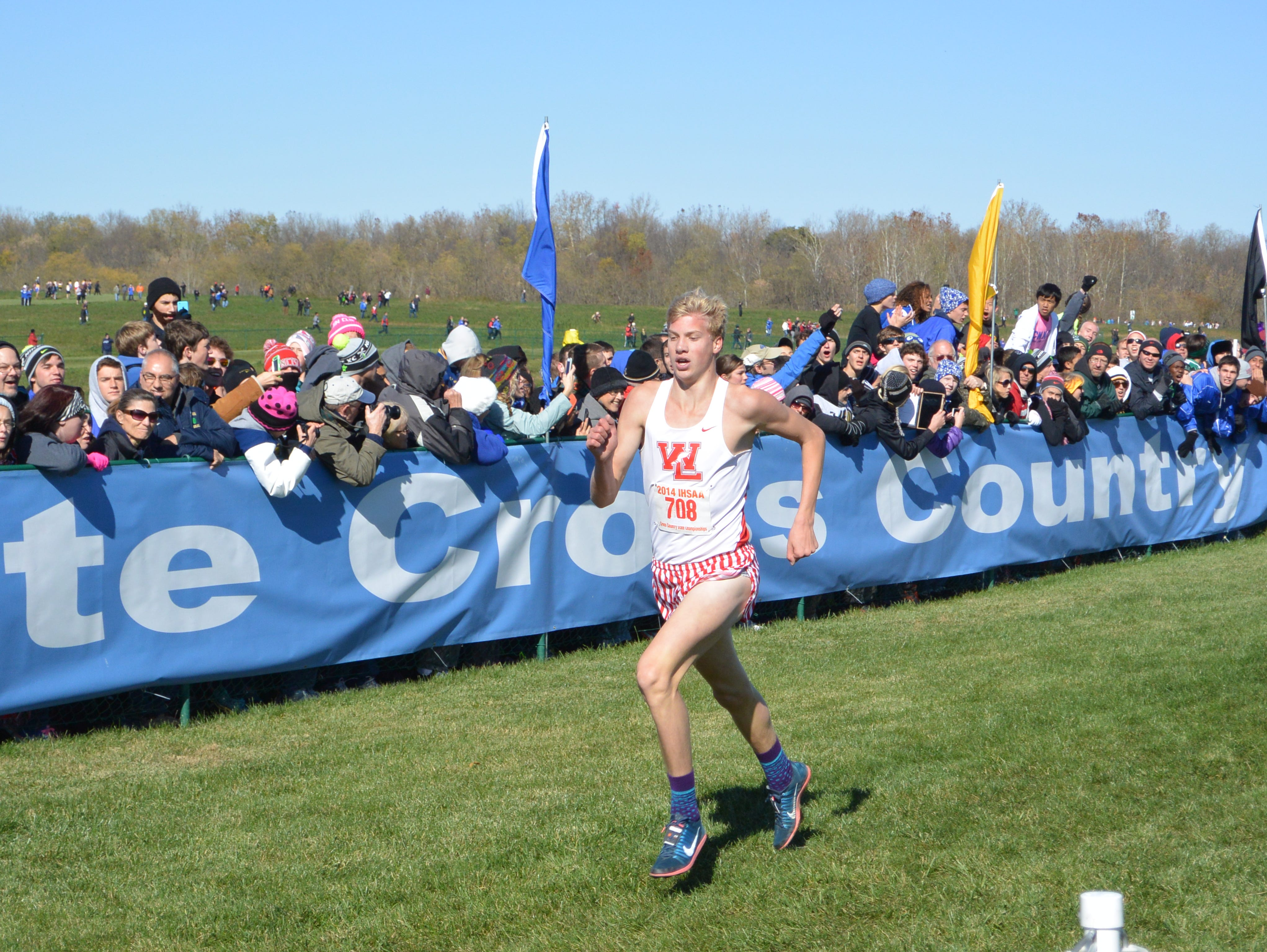 West Lafayette junior Cooper Williams finished third to lead the Red Devils to the state championship on Saturday, Nov. 1, 2014.