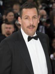 Friday: Adam Sandler, seen last May at the Cannes Film