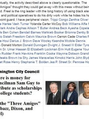 """A Facebook post from City Councilman Samuel L. Guy on  April 5 accuses council members of """"questionable"""" behavior. Council President Hanifa Shabazz introduced a resolution to censure Guy."""