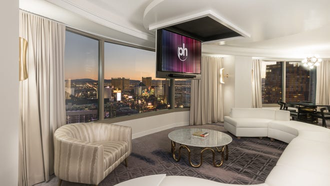 Newly renovated suites at the Planet Hollywood in Las Vegas have views of the Strip.