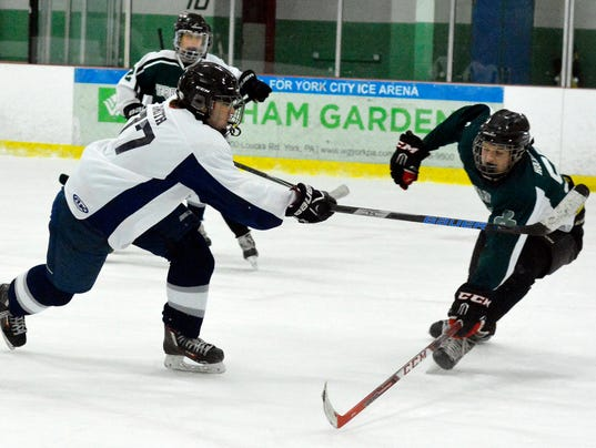 Dallastown vs the Shamrocks CPIHL ice hockey