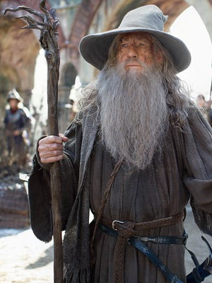 "Ian McKellen as Gandalf in a scene from ""The Hobbit: The Battle of the Five Armies."""