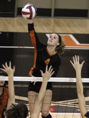 Hayley Bush can make plays from anywhere for Ryle.  Notre Dame Academy rolled past Ryle in three straight games to win the Region 9 semi-finals Thursday night.