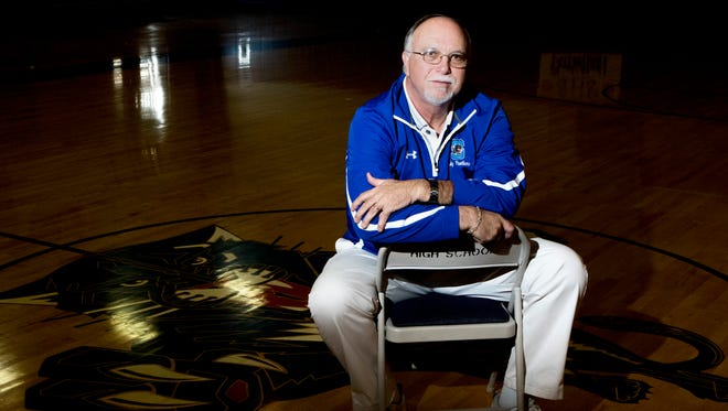 Sterlington's Mike Crumpler led the Lady Panthers to 24 wins and won All-NELA Small School Girls Basketball Coach of the Year for 2017.