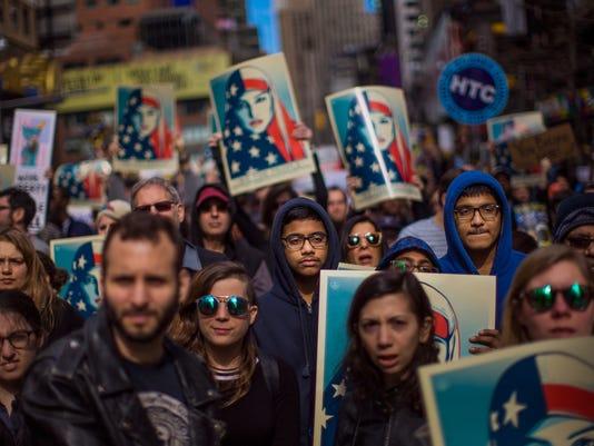AP IMMIGRATION RALLY A USA NY