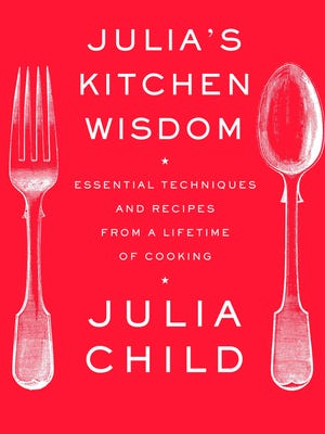 "This book cover released by Knopf shows the cover of ""Julia's Kitchen Wisdom"", by Julia Child."