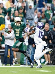 Baylor Bears wide receiver KD Cannon catches a touchdown